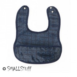 SMALLSTUFF - Eating Bib, Small pocket, Elephants