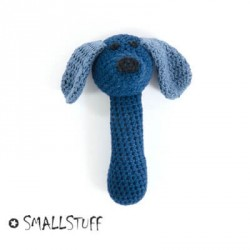 SMALLSTUFF, Maracas Crocheted, Dog - Blue