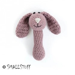 SMALLSTUFF - Maracas Crocheted, Rabbit, Powder