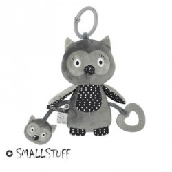 SMALLSTUFF - Activity toy, Owl, Grey