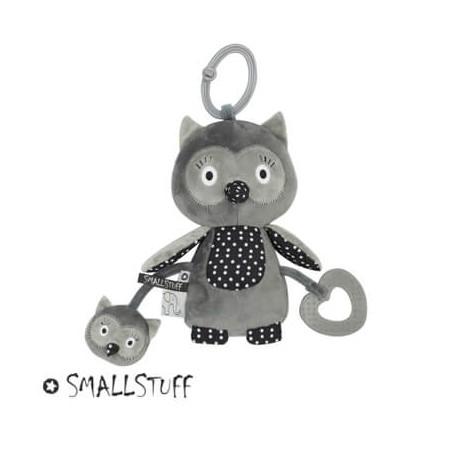 SMALLSTUFF - Activity toy, Owl, Grey