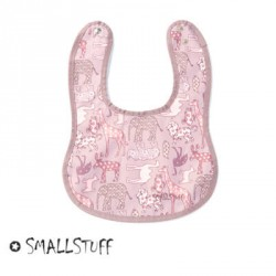 SMALLSTUFF - Eating Bib, Small, Rose / Animal