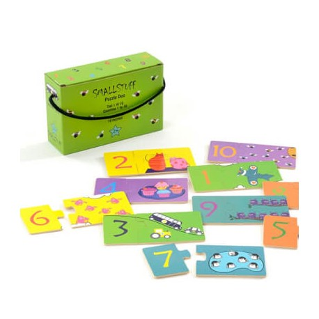 SMALLSTUFF - Puzzle with numbers, Green box