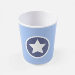 SMALLSTUFF - Cup no handle, Denim Circle star