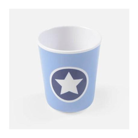 SMALLSTUFF - Cup no handle, Denim Circle star