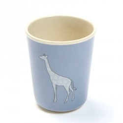 SMALLSTUFF, Cup without handle, Denim Animal - Bamboo