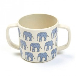 SMALLSTUFF - Cup with handle, Denim Animal, Bamboo