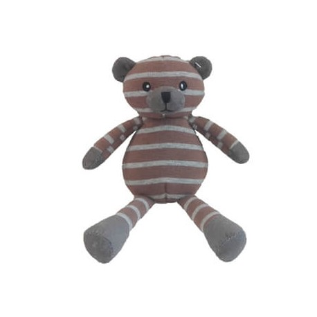 Teddy Bear, Brown/Grey Stripes