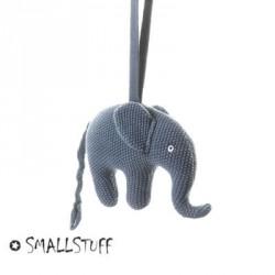 SMALLSTUFF, Music mobile, Elephant knitted, Blue