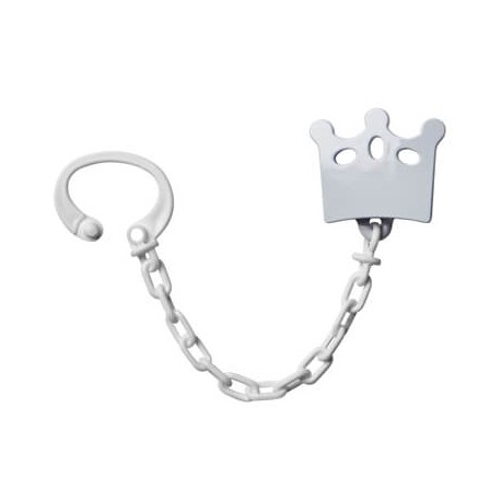 Personalised crown dummy chain, Available in several colours