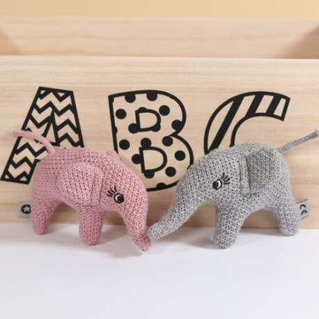 SMALLSTUFF, Strikket elefant rangle, Pudder