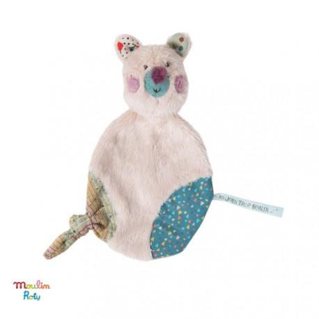 MOULIN ROTY, Security blanket, cream coloured bear