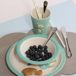 MOULIN ROTY, Baby eating set, dusty blue