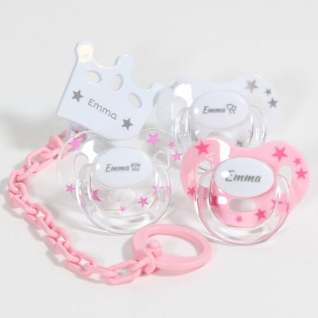 Gift box for girl, With Maxibaby dummies, 3-36 months