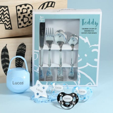 Gift Box for boy, Incl. cutlery, 3-36 months