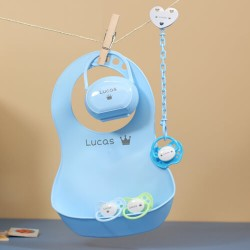 Gift box for boy, With Bib, NIP Classic 0-6, Anatomic - Silicone