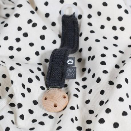 SMALLSTUFF, Crochet Soother Clip, Antrazit