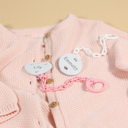 Personalised dummy chain, Round, Several colours available