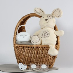 Gift box in neutral colors, 0-6 months