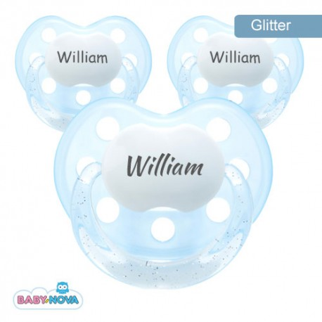 BABY-NOVA 3-36, Soother with glitter, Anatomic - Silicone