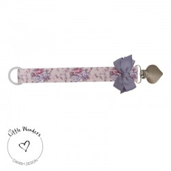 Little Wonders, dummy chain with bond, Baby-pink