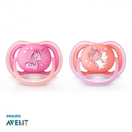 PHILIPS AVENT 0-6,Ultra Air Pink, Symmetrical - Silicone