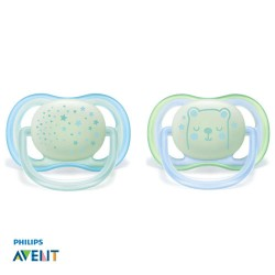 Philips Avent, Pacifiers 0-6 months,Ultra Air Pink, Symmetrical - Silicone