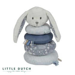 LITTLE DUTCH, Stacking Tower, Dusty blue - Rabbit