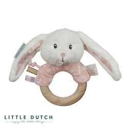 LITTLE DUTCH, Rattle, Dusty pink - Bunny