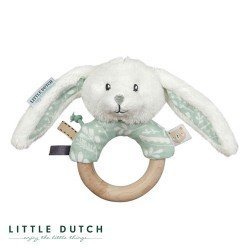 LITTLE DUTCH, Rattle, Mint - Bunny