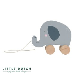 LITTLE DUTCH, Pull animal, Dusty blue - Elephant