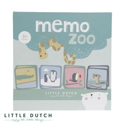 LITTLE DUTCH, Memory game, Dusty blue and mint