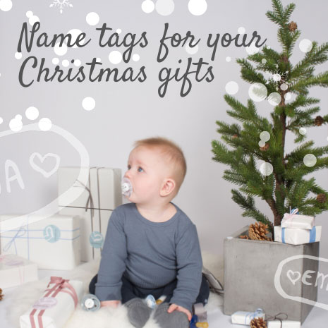 Personalised name tags for your Christmas gifts
